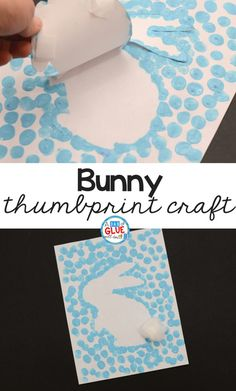 Spring and Easter Crafts are so much fun! This Bunny Thumbprint Art is a great activity to do during springtime with your students!