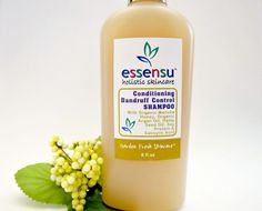 Organic Raw Manuka Honey Flaky Scalp & Dandruff Control Salicylic Acid Argan Oil Conditioning Shampoo, by essensu. Vegan. Non-Toxic, non damaging choice. Also, provides relief for itchy scalp. #haircare #dandruff #greenbeauty #ecofriendly #natural #naturalbeauty