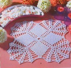 Tecendo Artes em Crochet: Duas Toalhinhas Quadradas.