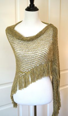 Loom knitted Shawl/Wrap