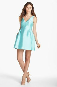 kate spade new york 'susannah' silk blend fit & flare dress available at #Nordstrom