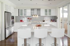 Modern White Kitchen Design Ideas and Inspiration  Dark Cabinets, Farmhouse, Country, Ideas, Gray, Small, Modern, Grey, Oak Cabinets Oak, Galley, Blue, Rustic, Tile Floor, Cream, Black, Stainless Steel, Butcher Blocks, Layout, Cupboards, Granite, Wall Ovens, Hoods, Benjamin Moore, Vintage Stoves, Hardware, Back Splashes, Floor Colors, Farm Sink, Stools, Doors, Apartment Therapy, Dreams, Faucets, Big Chill, Laundry Rooms, Awesome, Dishwashers, Butler Pantry, Lighting, Interiors, Cleanses…