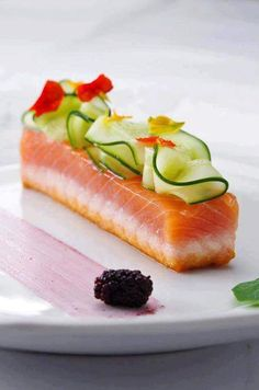 Jrny of culinary arts skills - Photo Seafood Recipes, Wine Recipes, Gourmet Recipes, Cooking Recipes, Gourmet Foods, Gourmet Desserts, Health Desserts, Plated Desserts, Cooking Tips