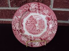 Enoch Wood's English Scenery Woods Ware 6 Inch Plate $5.99