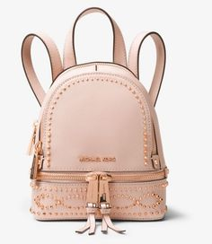 5dceaf454 Rhea mini studded leather backpack by MICHAEL Michael Kors  #michaelmichaelkors #backpacks Carteras, Cuero
