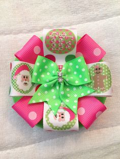 Christmas bow made by Brynlis Bows