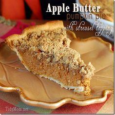 Apple butter pumpkin pie, #thanksgiving #pie #recipe
