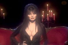 Cult of Elvira — honestlydeepesttidalwave: Elvira gif Elvira Movies, Yvonne Craig, Gothic Images, Cassandra Peterson, Dark Pictures, Badass Women, Scary Movies, Dark Beauty, Mistress