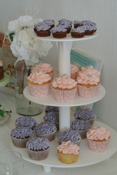 Hortensia Flower Cupcakes www.BioliciousBakery.nl