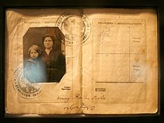 Passports from the Immigration Museum at Ellis Island