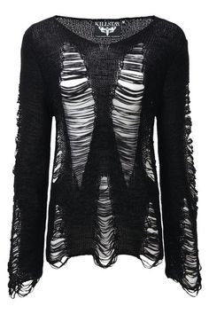 BAAL. PUNK ROCK - destroy what youlove [strictly speaking about knitz] - Luxe Soft RibbonKnit.- Distressed Detailing.- Crew Neck.- Mens/UNISEX Fit. Silky soft