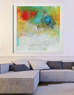 Abstract painting, white Painting, Green Orange Modern Painting, Large Abstract Painting, Red Blue Art Print, Fine Art Print, Blue Abstract by BuyWallArt on Etsy https://www.etsy.com/uk/listing/226972758/abstract-painting-white-painting-green