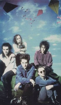 The Cure:  Robert Smith and the gang.