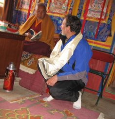 Lama Tenzing, Buddhist high Lama of the Sherpa people, and the author. Tenzing told me people should be free.