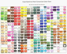 Copic Marker Spectrum Noir Color Conversion Chart Wish Upon A With Best Of Farbtabelle Spectrum Noir Pencils, Spectrum Noir Markers, Blending Markers, Color Blending, Color Mixing, Alcohol Markers, Copic Markers, Copic Pens, Copic Marker Color Chart