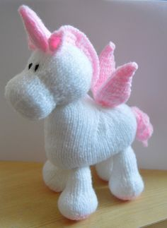 Paid Pattern. Stardust the Unicorn knitting pattern from Knitting by Post - The home of toy knitting patterns
