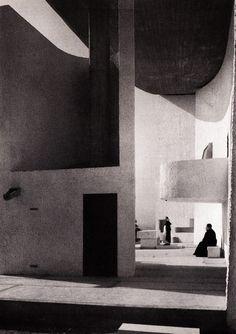 Chapelle de Ronchamp by Ezra Stoller, 1955