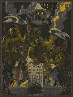 TEENAGE MUTANT NINJA TURTLES - Poster by Rich Kelly