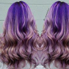 Pastel+Purple+Ombre+Hair