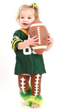 Football Tutu Legwarmers (YOU CHOOSE THE RUFFLE COLORS)-  ...too cute!!!