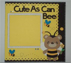Rugged Baby Boy Creative Memories Idea   Project Center - 8x8 Layout - Cute As Can Bee