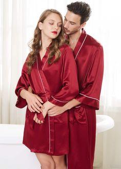 Pink Lingerie, Lingerie Outfits, Women Lingerie, Casual Dresses Plus Size, Stylish Dresses, Mens Silk Pajamas, Satin Pajamas, Honeymoon Dress, Couple Pajamas