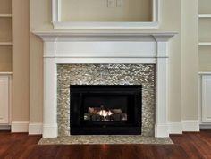Best Glass Fireplace Tile Idea