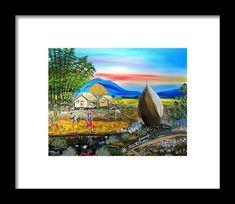 framed art by Anna Lisa Actub Bahay Kubo, Framed Art, Framed Prints, Philippine Art, Hanging Wire, Art Paintings, Fine Art America, Lisa, Painting Art