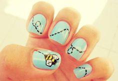 Bumblebee nails - so cute!