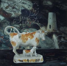 Early still-life, 'The Staffordshire Cow'. Clive Hicks-Jenkins