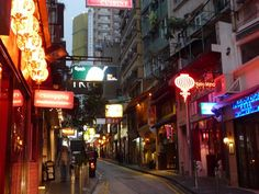 One of my favorite streets for eating and drinking..  Hong Kong SOHO
