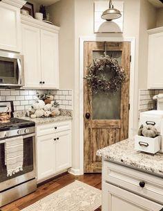 Kitchen Ikea, Fall Kitchen Decor, Farmhouse Kitchen Decor, Kitchen Redo, New Kitchen, Kitchen Remodel, Kitchen Pantry, Fall Decor, Pantry Cabinets