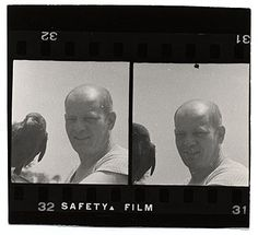 Citation: Jackson Pollock with a crow, ca. 1947 / unidentified photographer. Jackson Pollock and Lee Krasner papers, Archives of American Art, Smithsonian Institution.