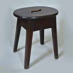 "Early 19th century High Stool - could be used at the side of a chair Width: 10.5"" / 27 cms Depth: 7"" /17 cms Height: 17"" / 43 cms"