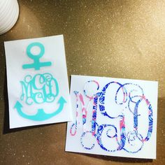 Love these anchor monograms! They look great in solid or patterned prints! #ssmonogramshop #etsy #anchor #anchorsaway