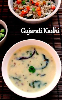 VegRecipeWorld: Recipe of Gujarati Kadhi Veg Recipes, Curry Recipes, Indian Food Recipes, Vegetarian Recipes, Cooking Recipes, Indian Foods, Snack Recipes, Indian Meal, Recipies