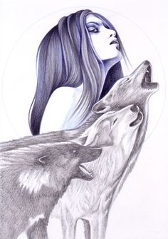 Call Of The Wolves Art Print by Andrea Hrnjak   Society6
