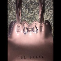 816771faa Ted baker mini bagRose goldGot from the Ted baker shop about 1 year agoRose  gold glitter
