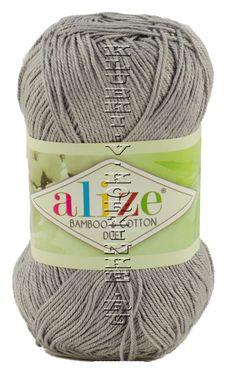 Пряжа Duet Alize - (253 - Серый) 50 г /225 м60% бамбук, 40% хлопок