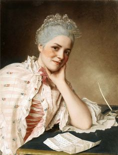 Mademoiselle Louise Jacquet  (painted between 1748-1752). Jean Etienne Liotard (Swiss, 1702-1789). Pastel. Jacquet was a respected and versatile singer who debuted at the Paris Opera House on 10 October 1738, and went on to create numerous memorable roles before retiring with a large pension in 1758.