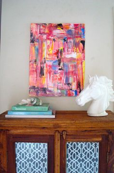 """""""Summer in Sydney"""" - Acrylic Artwork by Anna White. This makes me want to visit Sydney! #art #abstract #painting    ----BTW, Please Visit:  http://artcaffeine.imobileappsys.com"""