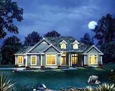 House Plan 95895 | Cape Cod Colonial Country Craftsman European Ranch Southern Plan with 2241 Sq. Ft., 4 Bedrooms, 3 Bathrooms, 2 Car Garage at family home plans