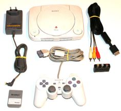 Playstation1 Konsole Sony PSOne+Original Kabel+Original Pad+Memory Card