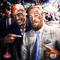 fan-art of Mike Tyson and Conor McGregor w/ face tattoos : if you love #MMA, you'll love the #UFC & #MixedMartialArts inspired fashion at CageCult: http://cagecult.com/mma