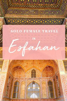 Dreaming of traveling the Middle East? This guide proves Esfahan is the best destination in the Middle East for female solo travelers. We also share our favorte things to do in Esfahan, where to eat, and where to stay! Middle East Destinations, Amazing Destinations, Travel Destinations, Solo Travel Quotes, Solo Travel Tips, Travel Advise, Travel Alone, Asia Travel, Iran Travel