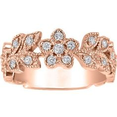 jasmine flower fair trade diamond ring