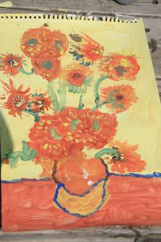 Create with your hands: Kids Get Arty: Van Gogh Sunflowers