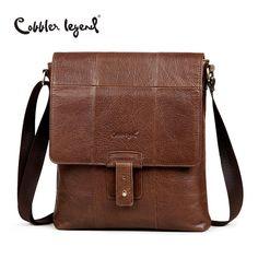 aa176823b7 Cobbler Legend Fashion Brand Genuine Leather Men's Crossbody Bags