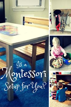Is a Montessori Setup for You? Find out how to answer this very question on ChildLedLife.com