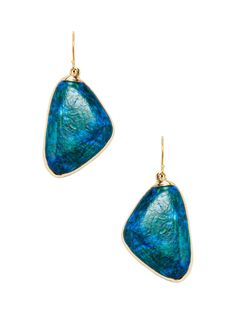 Lubov Chrysocolla Drop Earrings from Natural Stones Feat. Janna Conner on Gilt